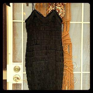Costume-quality flapper fringe dress
